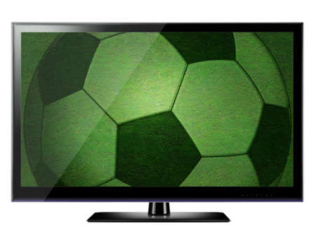 3D HDTV on white background