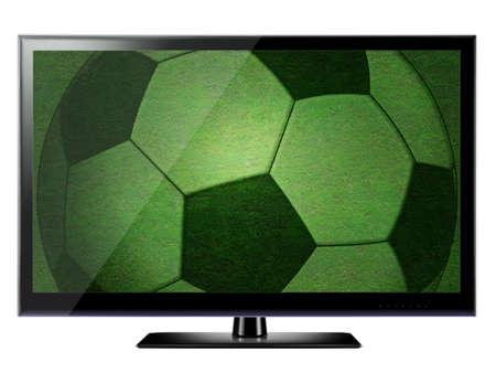 3D HDTV on white background