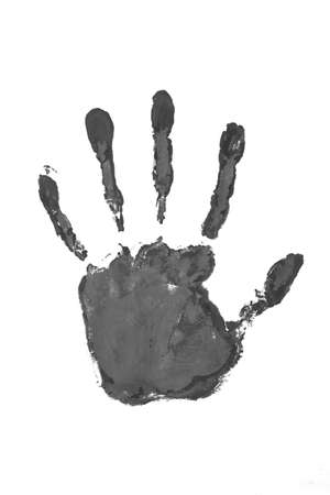 Hand print black color photo