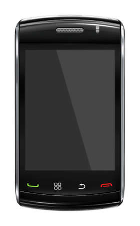 Modern mobile phone with black screen