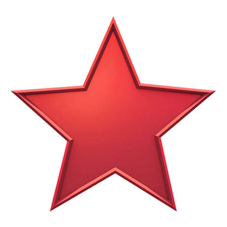Red star on white background Stock Photo - 8911983