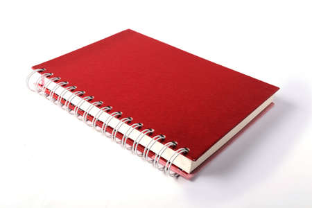 Red notebook Standard-Bild