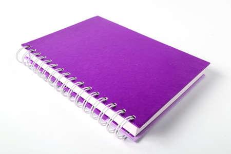 Violet notebook Lizenzfreie Bilder