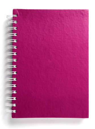 Pink notebook Stock Photo