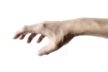 Main isolé sur fond blanc