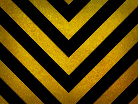 Traditional black and yellow warning background Stock Photo
