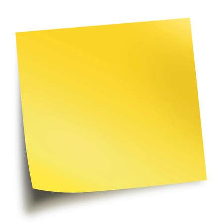 """pamiętaj: Żółty Nota stick odizolowane na biaÅ'ym tle z miÄ™kkiej cieÅ"""" Zdjęcie Seryjne"""
