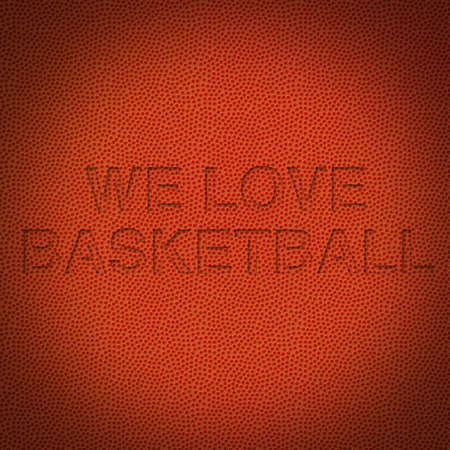 Basketball background with text we love basketball Stock Photo