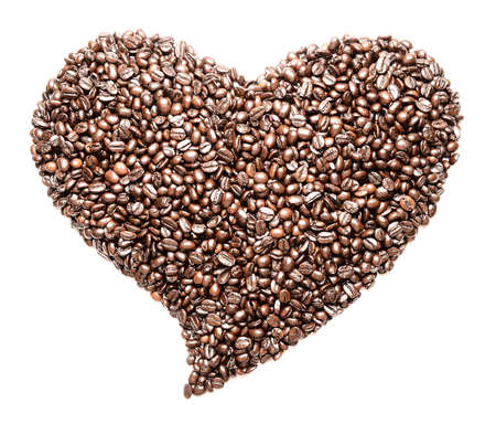 Coffee beans in the shape of the heart Stock Photo