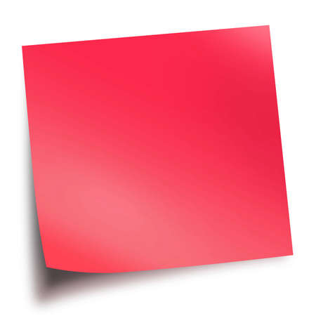 Red memo stick isolated on white background with soft shadow Stock Photo