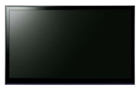 wall maps: Pantalla ancha LCD TV colgado en la pared blanca