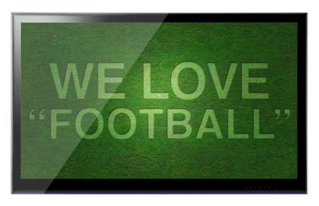 hdtv: 3D HDTV We love football hanging on a wall