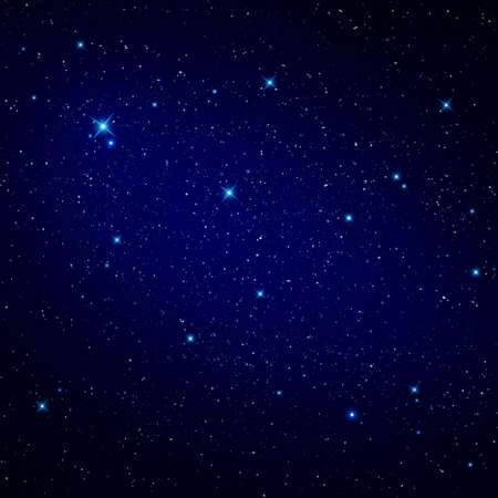 Star in the night sky  Stock Photo