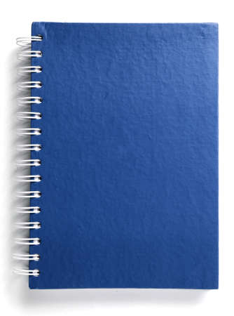 Blue notebook  Standard-Bild