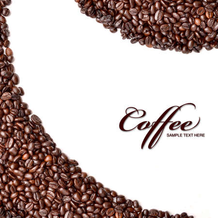 stimulated: Coffee beans background, with copyspace