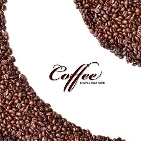 stimulated: Roasted coffee beans background  Stock Photo