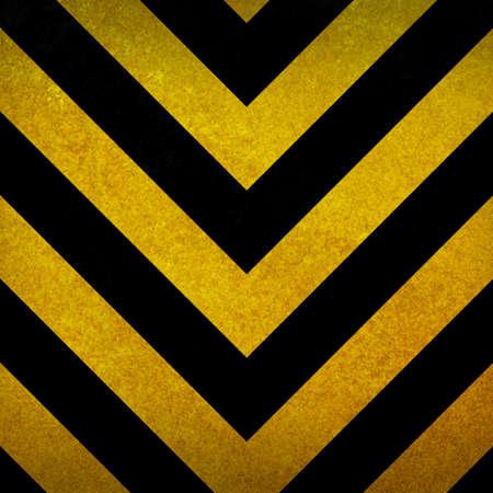 Arrière-plan noir et jaune avertissement Banque d'images