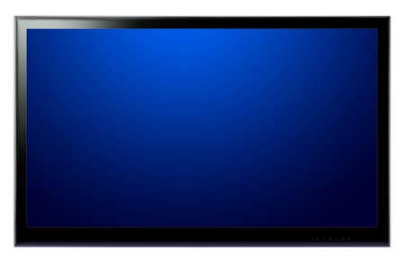 Plein écran TV HD sur un mur blanc