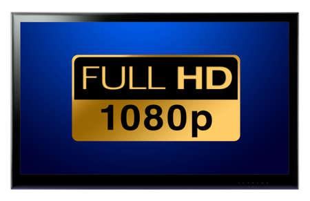 Full-HD-TV an wei�e Wand h�ngen