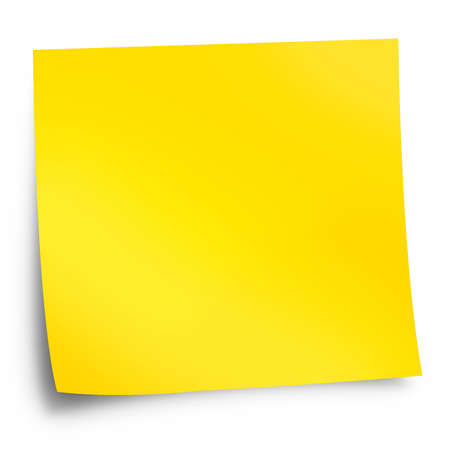 Yellow memo stick with shadow Stock Photo - 9557687