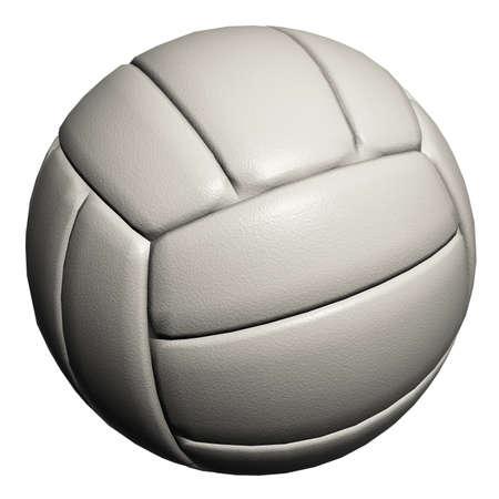 Volley-ball blanc isolée sur un fond blanc Banque d'images