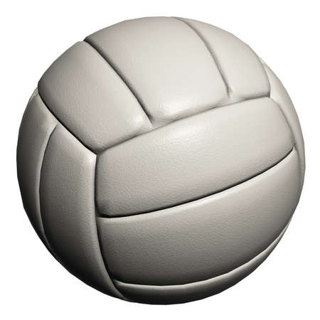 White volleyball isolated on a white background Stock Photo