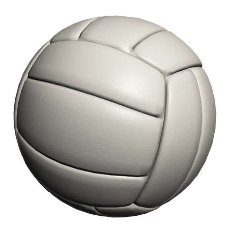 Volleyball ball isolated on a white background Banque d'images