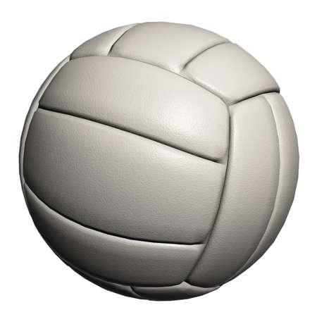 Boule de volley-ball isolée sur un fond blanc Banque d'images