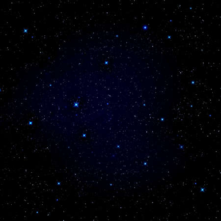 Star in the night sky photo