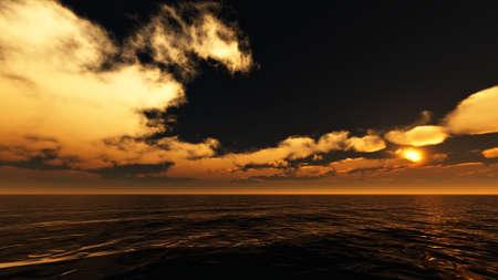 Le ciel avec coucher de soleil