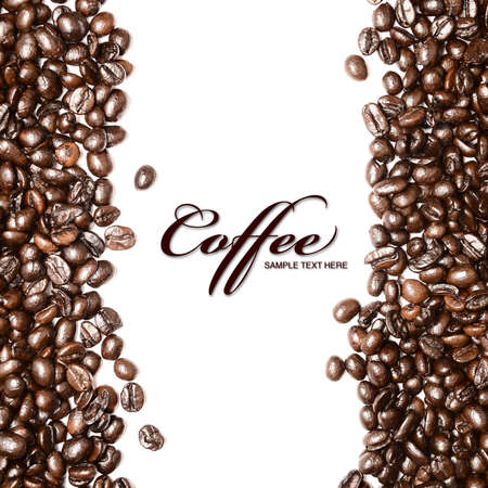 Coffee beans background Standard-Bild