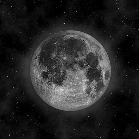 Pleine lune dans le ciel nocturne Banque d'images