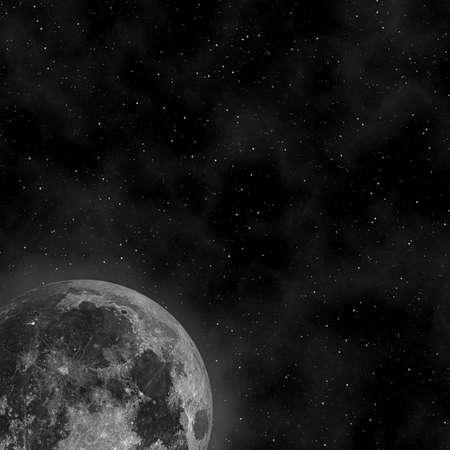 Moon in the night sky Stock Photo
