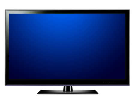 Widescreen lcd tv Stock Photo