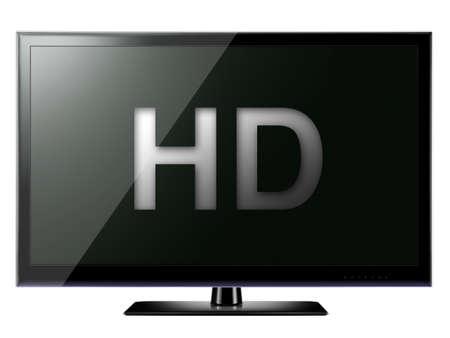 HD TV isolated on white background Lizenzfreie Bilder