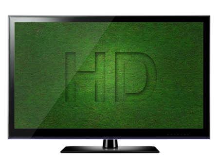 HD TV isolated on white background photo