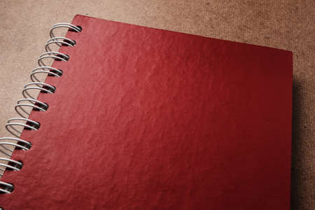 Close up red diary Stock Photo