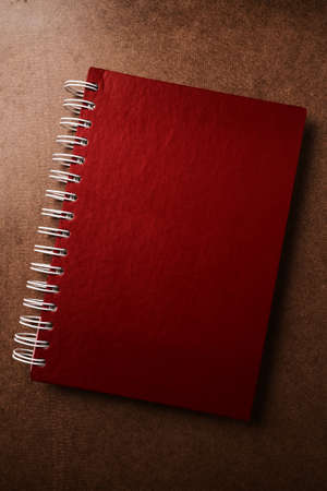 Red diary Stock Photo
