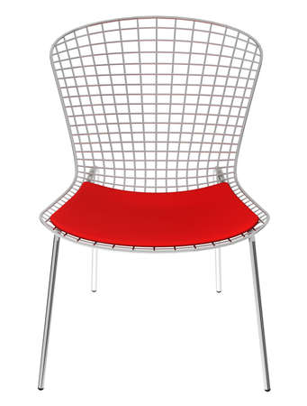 Red metal chair  photo