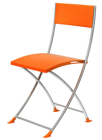 isolated chair: Orange chair isolated on white background