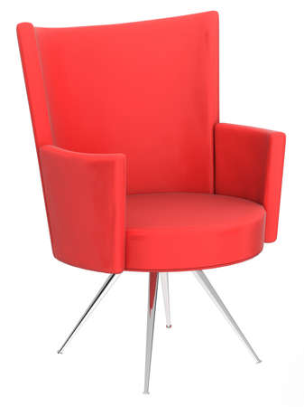 red chair: Red modern chair Stock Photo