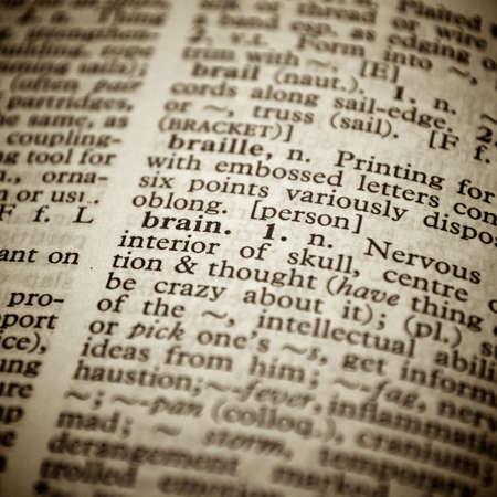 """Selektive konzentrieren sich auf das Wort """"Brain"""""""