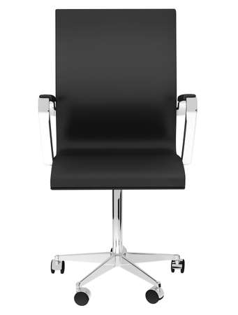 Black office chair on white background photo