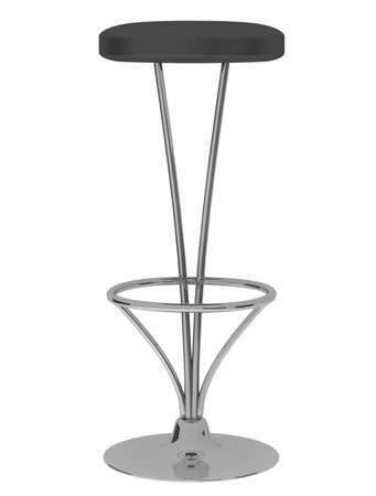 Bar chair isolated on the white background