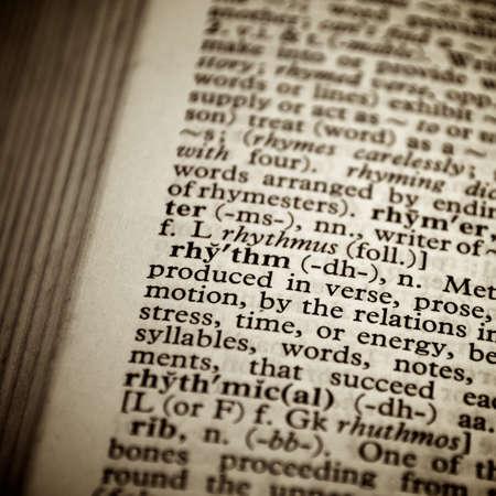 Rhythm definition in a dictionary photo