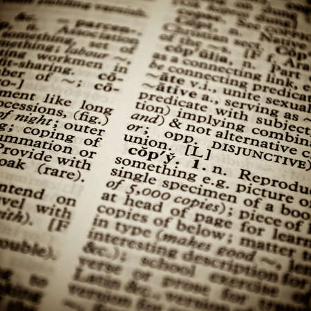 Copy definition in a dictionary Stock Photo - 10842642