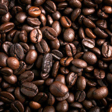 Roasted coffee beans background Stock Photo - 10996209