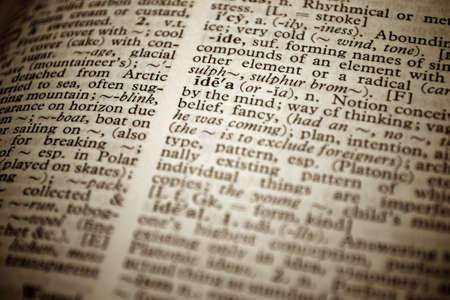W�rterbuch Definition des Wortes Idee in Englisch