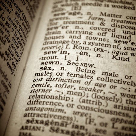 Dictionary definition of the word sex in English