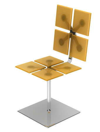 Yellow chair Stock Photo